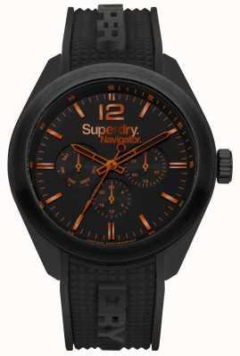 Superdry Navigator chic zwart oranje hoogtepunten SYG215BB