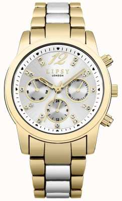 Lipsy Chronograaf zilveren sunray wijzerplaat goud & zilver twee kleuren LP530
