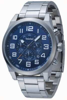 Timberland Tilden blauwe multi-wijzerplaat roestvrij stalen armband 15247JS/03M