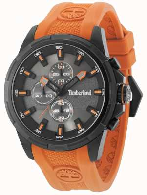 Timberland Boxford oranje siliconen band pistool metalen grijze wijzerplaat 15253JSB/61P