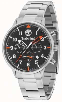 Timberland Spaulding zwarte multi wijzerplaat zilveren armband 15263JS/02M