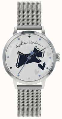 Radley Liefdesstrook roestvrij stalen kast met zilverkleurige horlogeband RY4323