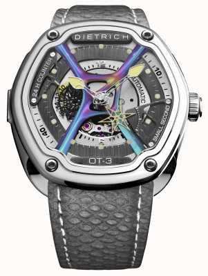 Dietrich Organische roestvrijstalen grijze horlogeband OT-3_SHINE