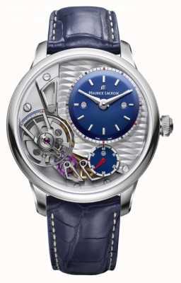Maurice Lacroix Zwaartepunt van het leer, blauwe leder, 25e verjaardag MP6118-SS001-434-1