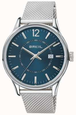 Breil Contempo roestvrij stalen armband met blauwe wijzerplaat TW1560