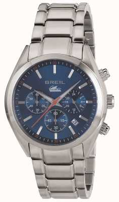Breil Manta city roestvrij stalen chronograaf blauwe wijzerplaat armband TW1605