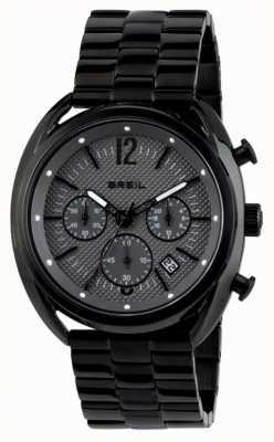 Breil Beaubourg roestvrijstalen ip zwarte chronograaf grijze wijzerplaat TW1664