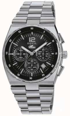Breil Manta sport roestvrij stalen chronograaf zwarte wijzerplaat armband TW1639
