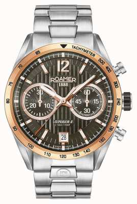 Roamer Heren superieure chrono ii zilveren armband horloge 510902496450