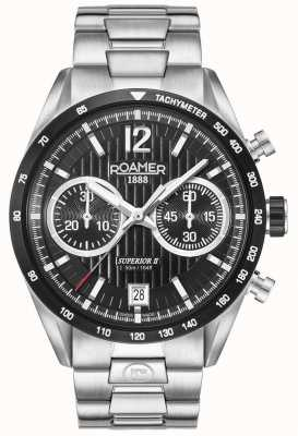 Roamer Heren superieure chrono ii zilveren armband horloge 510902415450