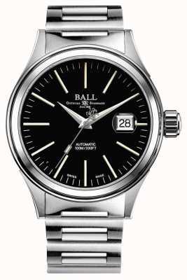 Ball Watch Company Brandweerman automatische 40 mm vergrote datum extra nato band NM2188C-S5J-BK