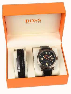 Hugo Boss Orange Heren capetown horloge en armband geschenkset 1570052