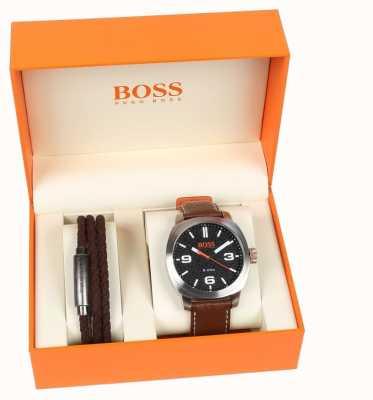 Hugo Boss Orange Heren capetown horloge en armband geschenkset 1570051