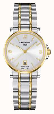 Certina Womens ds caimano two tone horloge C0172102203700