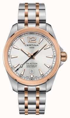 Certina Heren ds actie chronometer horloge | roestvrij stalen band | C0328512203700