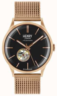 Henry London Menselijke erfenis automatische rose vergulde mesh armband HL42-AM-0286