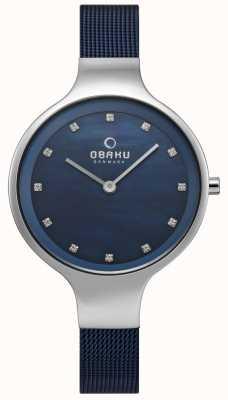 Obaku Blauwe horlogeband Dameshorloges V173LXCLML