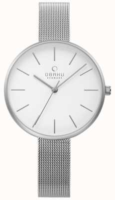 Obaku Womens viol watch zilver stalen gaas armband V211LXCIMC