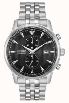 Citizen Heren chronograaf datum zilveren stalen armband CA7000-55E