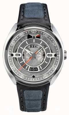 REC Porsche automatische grijze alcantara lederen band grijze wijzerplaat 901-01