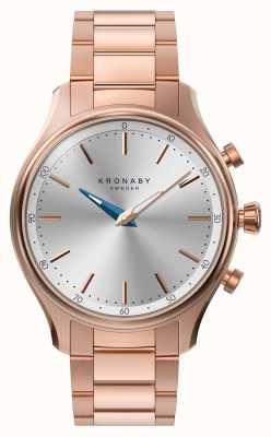Kronaby 38mm sekel bluetooth rosé gouden metalen armband smartwatch A1000-2747