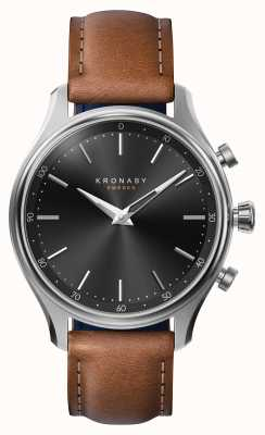 Kronaby 38 mm sekel bluetooth stalen lederen band smartwatch A1000-2749