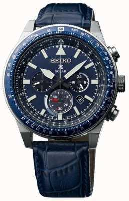 Seiko Mens sky prospex solar horloge blauw SSC609P1