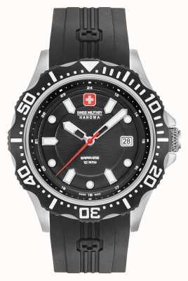 Swiss Military Hanowa Patrol matte zwarte wijzerplaat zilveren armband 06-4306.04.007SM