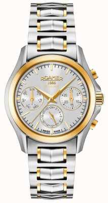 Roamer Searock dames chrono zilver & gouden armband 203901471520