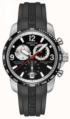Certina Heren ds podium groot formaat chrono gmt kwarts C0016392705700