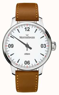 MeisterSinger Urban white dial opaline zilver UR901