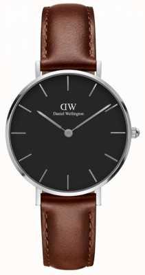 Daniel Wellington Unisex classic petite st mawes 32mm zilver zwart DW00100181