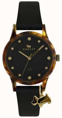Radley Dames zwarte 33mm zwarte wijzerplaat zwarte hondenbedel RY2640