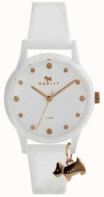 Radley Dames witte witte wijzerplaat met witte wijzerplaat van 33 mm en silicium RY2638