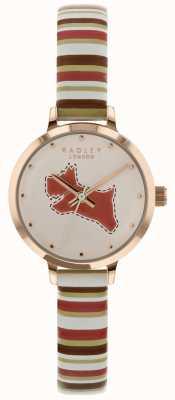 Radley Dames 24mm horlogekeuze krijt / bruin koraal lederen band RY2628