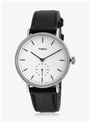 Timex Fairfield sub-tweede silvertone-hoes zwart witte wijzerplaat TW2R38000