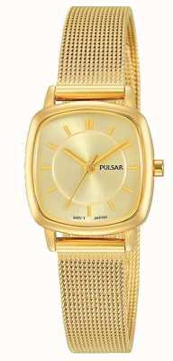 Pulsar Gouden dameshorloge van roestvrij edelstaal met 30m weerstand PH8380X1