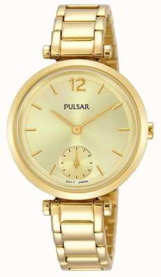 Pulsar Gouden wijzerplaat met gouden wijzerplaat PN4068X1
