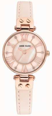 Anne Klein Womens jane horloge rosé gouden kast lederen band AK/N2718RGPK