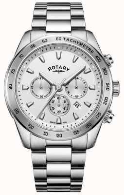Rotary Heren henley chronograaf armband roestvrij staal GB05115/06