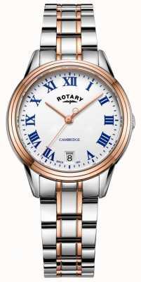Rotary Cambridge dames | roestvrij staal tweekleurige armband | LB05260/01