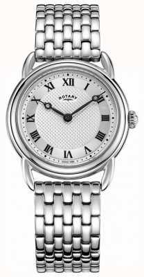 Rotary Dames canterbury roestvrij stalen armband LB05335/21