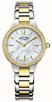 Rotary | dames | Kensington | tweekleurige armband | kristal set | LB05276/41