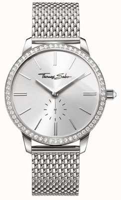 Thomas Sabo Womens glam en soul glam spirit horloge zilveren mesh armband WA0316-201-201-33