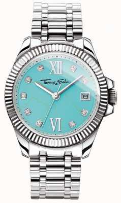 Thomas Sabo Womens glam en soul goddelijke horloge turquoise wijzerplaat WA0317-201-215-33