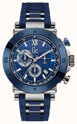 Gc Heren gc-1 sport chronograaf blauwe siliconen band X90025G7S