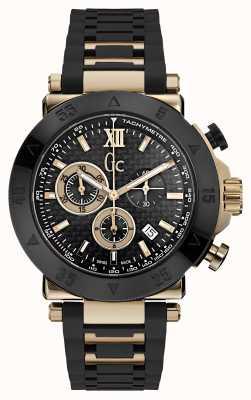Gc Heren gc-1 sport chronograaf zwarte siliconen band X90021G2S