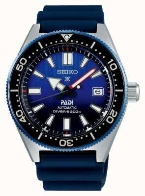 Seiko Prospex padi recreatie blauwe wijzerplaat blauwe kunstharsband SPB071J1