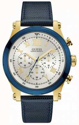 Guess Anker heren sport chronograaf gouden ronde W1105G1