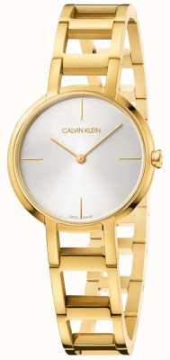 Calvin Klein Dames juichen geel gouden horloge K8N23546